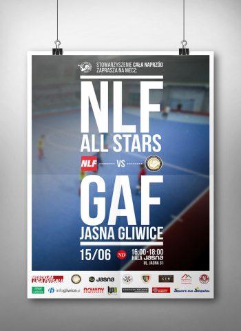 Plakat meczowy NLF vs GAF